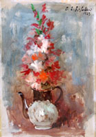 Quadro di Osman Lorenzo De Scolari - Natura Morta olio tavola