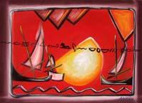 Work of  Ammar - Marina mixed canvas