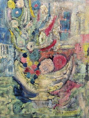 Art work by Alvaro Baragli Composizione astratta - oil canvas