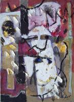 Quadro di Emanuele Cappello - Composizione (Kapel) olio tela