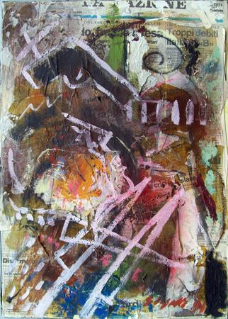 Quadro di Emanuele Cappello Composizione - collage tela