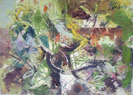 Quadro di Emanuele Cappello Il pino di Marina di Grosseto - olio tela