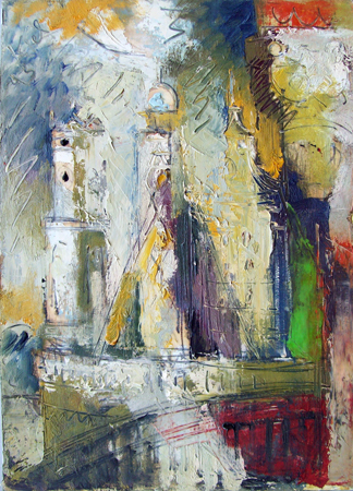 Art work by Emanuele Cappello Assalto alle Torri (Kapel) - oil canvas