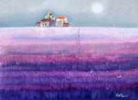 Work of Lido Bettarini - Campo di lavanda oil canvas