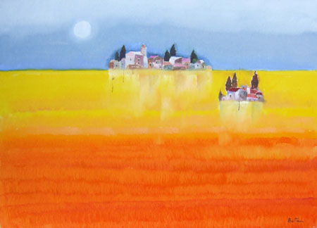 Quadro di Lido Bettarini Paesaggio - olio tela