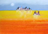 Quadro di Lido Bettarini - Paesaggio olio tela