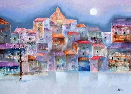 Quadro di Lido Bettarini Primavera fiorentina - olio tela