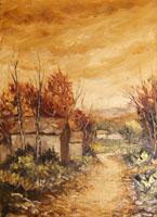 Work of Renato Cappelli (Renca) - Paesaggio oil canvas