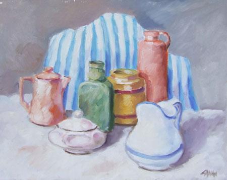 Quadro di Enzo Cangi Composizione - olio tela