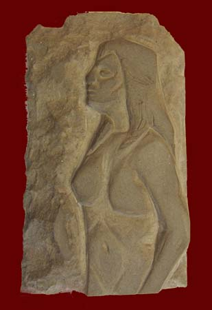 Art work by Luigi Pignataro Donna - sculpture stone
