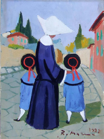 Quadro di Rodolfo Marma Monachina - olio cartone telato