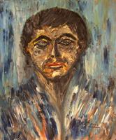 Quadro di Sirea Piardi ritratto - olio tela