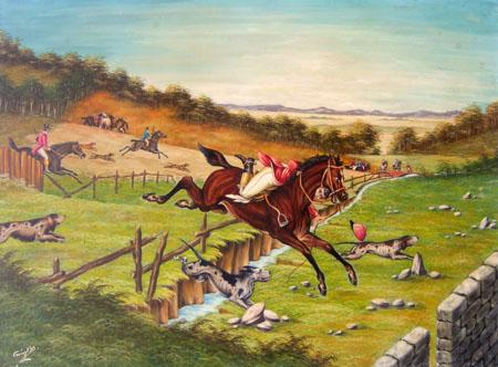 Quadro di Giovan Battista Caciagli Paesaggio - olio tela