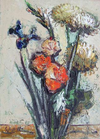 Quadro di Emanuele Cappello Fiori di campo - olio tela