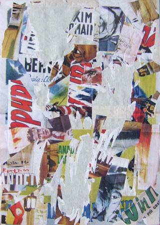 Quadro di Andrea Tirinnanzi Frammenti del cinema  - decollage tela