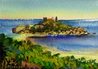 Work of Alberto Pistoresi - Marina Siciliana acrylic paper