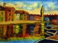 Work of Alberto Pistoresi - Nei Pressi di Chioggia acrylic paper