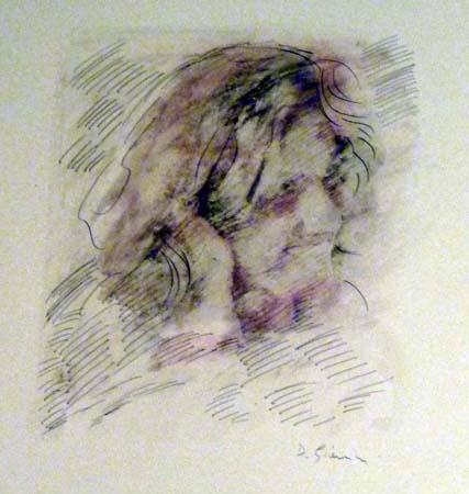 Quadro di D. Giannini Figura - Pittori contemporanei galleria Firenze Art