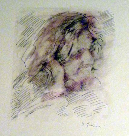 Quadro di D. Giannini Figura - olio carta