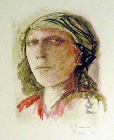 Art work by D. Giannini Voto - oil paper