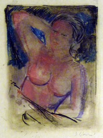 Art work by D. Giannini Nudo - oil paper