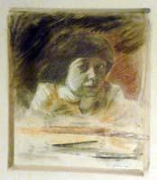 Quadro di D. Giannini - ritratto di giovane olio carta