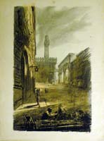 Work of Luciano Guarnieri - Firenze lithography paper