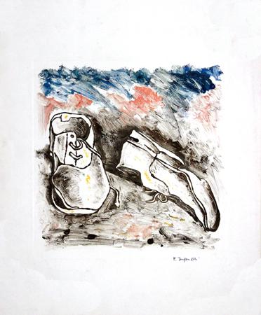 Quadro di Franco Tanganelli Dimenticate - tempera carta