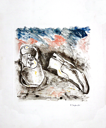 Art work by Franco Tanganelli Dimenticate - varnish paper
