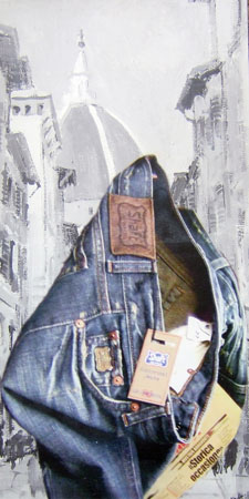 Quadro di Andrea Tirinnanzi Jeans Shaft x Firenze - digital art tela