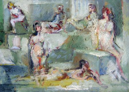 Quadro di Emanuele Cappello Figure - olio tela