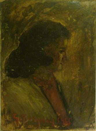 Quadro di Guido Borgianni Ritratto di signora - Pittori contemporanei galleria Firenze Art