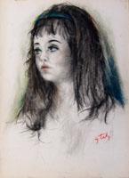 Quadro di Gino Tili - Ritratto mista carta