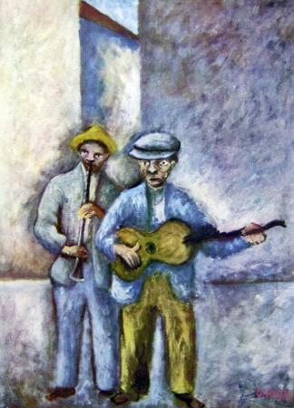 Quadro di  Copie d'Autore Suonatori (Ottone Rosai) - Pittori contemporanei galleria Firenze Art