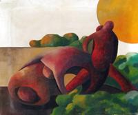 Quadro di Anna Di Volo - Figure olio tela