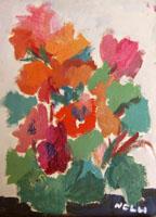 Work of Bianca Nelli - Fiori oil canvas cardboard