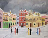 Work of  Sngel - paesaggio invernale oil canvas