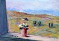 Work of Umberto Bianchini - Balcone acrylic canvas