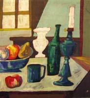 Quadro di Beppe Serafini - Composizione olio tavola