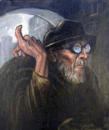 Quadro di Carlo Bocklin Figura - olio tela