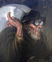 Work of Carlo Bocklin - Figura oil canvas