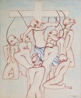 Work of Antonio Manzi - L'ipocrisia s'impicca oil canvas