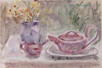 Quadro di Edmondo Prestopino - Composizione con fiori acquerello carta