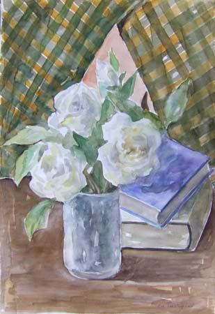 Art work by Edmondo Prestopino Fiori - watercolor paper