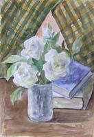 Work of Edmondo Prestopino - Fiori watercolor paper