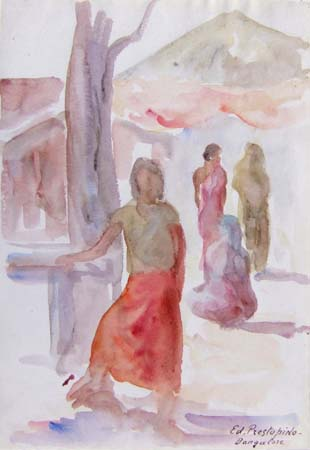 Art work by Edmondo Prestopino Bangalore - watercolor paper