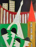 Work of Livio Cogoli - Gita turistica oil canvas