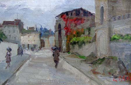 Quadro di Gino Paolo Gori Porta san Frediano - olio tavola