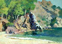 Work of Claudio da Firenze - Costa Brava (Spagna) oil canvas