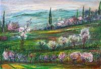 Quadro di Giuseppe Bongi - Paesaggio pastello carta